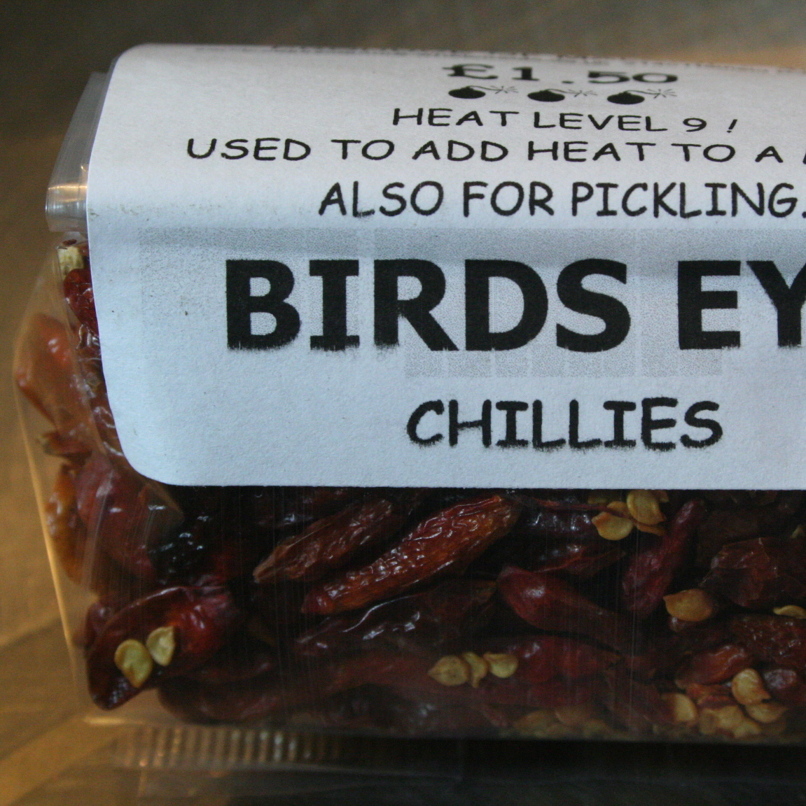 Dried Birds Eye Chillies (extra hot)