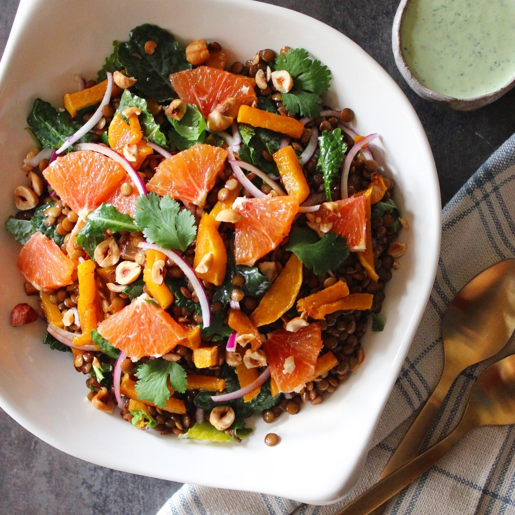 Warming Winter Lentil Salad