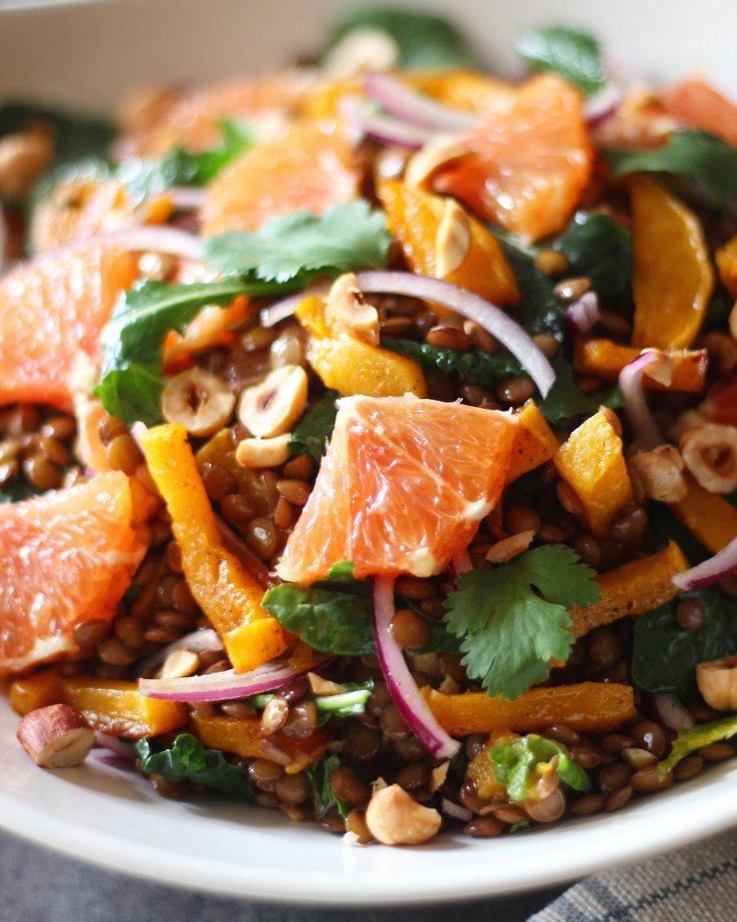 Warming Winter Lentil Salad