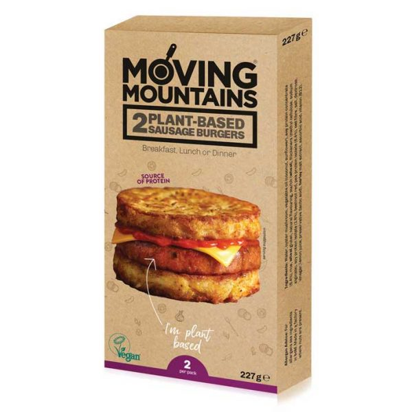 Moving Mountains - Plant Based 1/4 pound sausage burger