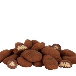 Cocoa dusted chocolate covered peacan nuts