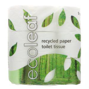Ecoleaf toilet tissue 9 pack
